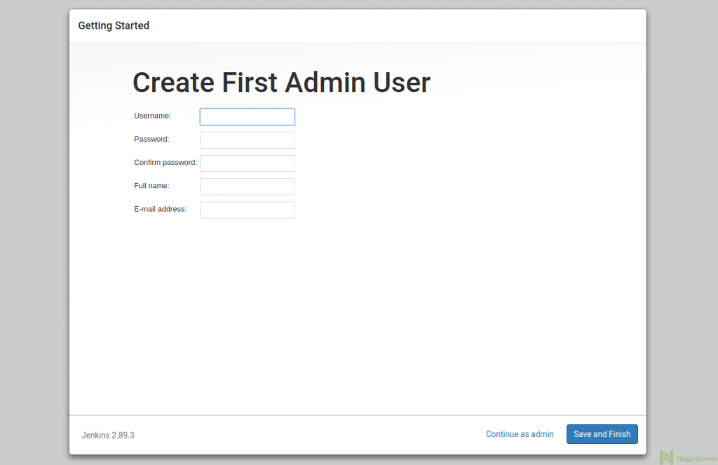 create Admin user in Jenkins